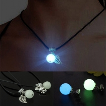 Fashion Glowing Leaf/Rabbit Pendant Necklace