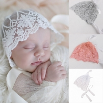 Sweet Style Lace-up Bow-knot Lace Cap for Babies