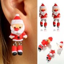 Niedliche Ohrringe in 3D Weihnachtsmannform