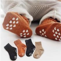 2 Paare Anti-Rutsch Babysöckchen Socken für Babys und Kinder