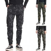 Fashion Camouflage Printed Side-pocket Man's Pants