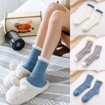 2 Paare Socken in Plüsch-Optik, 2 Paare / Set