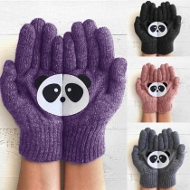 Strickhandschuhe Handschuhe mit Panda-Motive