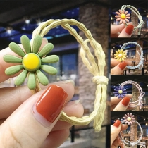 Sweet Style Daisy Shaped Elastic Hair Band for Kids  4 piece/set