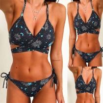 Sexy stilvolle Bikini mit Allovermuster