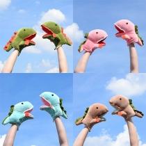 Cute Cartoon Dinosaur Shaped Plush Gloves