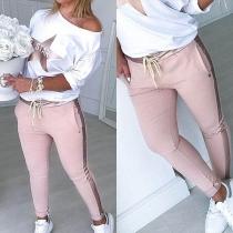 Damen Zweiteiler mit Stern-Sweatshirt und Sweatpant