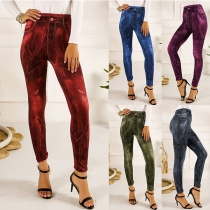 Fashion High Waist Slim Fit Printed Stretch Leggings