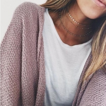 Simple Style Gold/Silver-tone Multi-layer Necklace