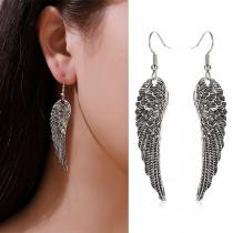 Retro Style Wing Pendant Earrings