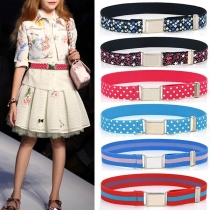 Fashion Contrast Color Printed Elastic Waistband for Kids
