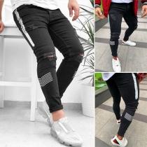 Moderne Gerissene Jeans für Männer mit Kontrastierenden Farben