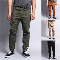Moderne Hosen für Männer mit Volltonfarbe und Lockerer Passform