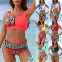 Sexy Bikini-Set mit Schlanker Passform und Schickem Muster