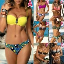 Sexy Bikini-Set mit Schickem Muster und Niedriger Taille