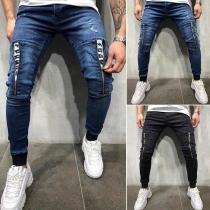 Moderne Jeans für Herren mit Mittelhoher Taille und Reißverschüssen