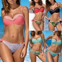 Sexy Bikini-Set mit Freiem Rücken und Niedriger Taille