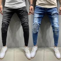 Moderne Jeans für Herren mit Mittelhoher Taille und Rissen