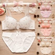 Sexy Unterwäsche-Set mit Niedriger Taille und Schickem Muster