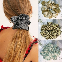 Modisch Bedrucktes Elastisches Haarband