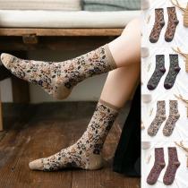 Lockere Socken im Retrostil mit Gemischten Farben