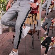 Modische Lässige Hose für Herren mit Kontrastierenden Farben und Elastischer Taille