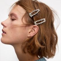 Moderne Haarnadeln mit Eingelegtem Strass 3 Stück / Set