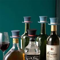 Schicker Weinflaschenstopfen aus Silikon in Zylinderform