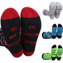 Moderne mit Buchstaben Bedruckte Socken in Kontrastierenden Farben