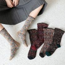 Moderne Socken mit Spitzendesign und Gemischten Farben