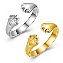 Kreativer Offener Ring mit Katzenpfötchen