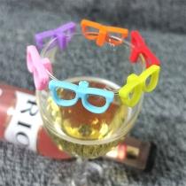 Kreative Drink-Markierer in Brillenform 6 Stück / Set