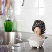 Kreativer Seifen- und Schwammhalter in Badewannenform