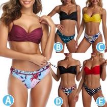 Sexy Push-up Bikini-Set mit Niedriger Taille