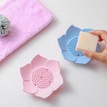 Kreativer Seifenhalter aus Silikon in Lotusblütenform