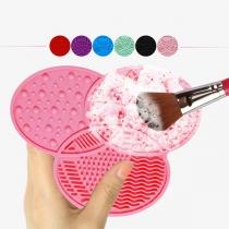 Tragbares Silikon-Reinigungspad für Make-up und Kosmetikpinsel
