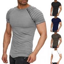 Modisches T-Shirt für Herren mit Rundhalsausschnitt und Raglanärmeln und Rundhalsausschnitt