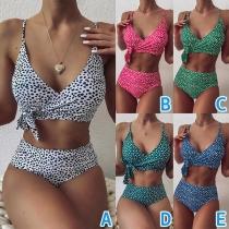 Sexy Bikini-Set mit Gekreuztem Design und Hoher Taille