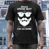 Lässige Mit Text Brillen- Bartmotiv Bedrucktes T-Shirt für Herren