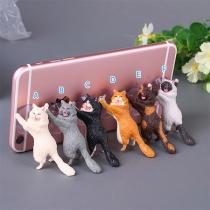 Niedlicher Handyhalter in Katzenform mit Saugnapf
