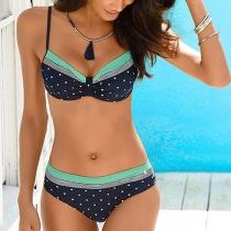 Sexy Push-Up Bikini-Set mit Niedriger Taille und Schickem Muster