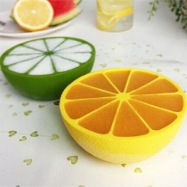 Kreative Silikon-Eisform in Zitronenform