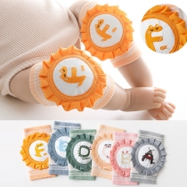Niedliche Gestrickte Knieschoner für Babys in Kontrastierenden Farben