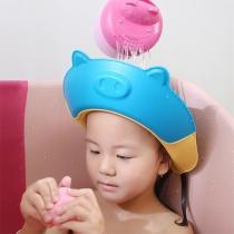 Niedliche Multifunktionale Silikon-Shampoo-Kappe für Kinder in Schwein-Form