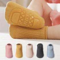 Moderne  Anti-Rutsch-Socken in Volltonfarbe für Babys und Kleinkinder 2 Paar / Set