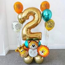 Niedliche Geburtstagsdekorationen Ballon-Sets mit Cartoon-Motiven