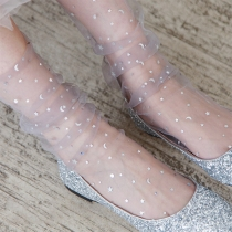 Modernes Tüll-Socken mit Pailletten 2 Paar/Set