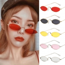 Sonnenbrille im Retrostil mit Ovalem Rahmen