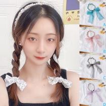 Nettes Haarband und Schleifen mit Perleneinlage 2 Stück/Set