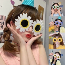 Verspielte Sonnenblumen-Sonnenbrille für Geburtstagsfeiern 2 Paar/Set